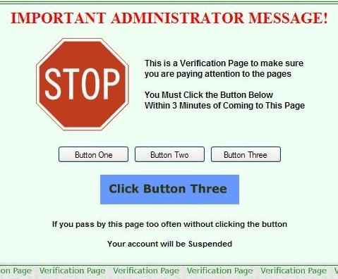 Pagina de verificação